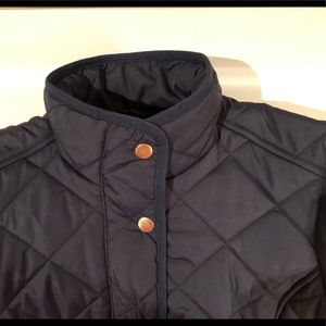 J. Crew XS Navy Quilted Jacket